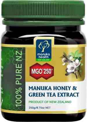 Miód Manuka MGO™ 250+ 250g z ekstraktem z zielonej herbaty