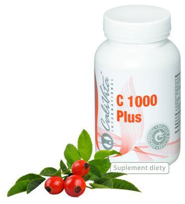 Witamina C 1000 Plus - megadawka witaminy C wzmocniona dziką różą z upraw ekologicznych