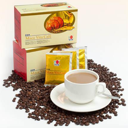 Maca Vita Cafe / kawę instant, żeńszeń w proszku, macę (Lepidium meyenii) w proszku i wyciąg z ganodermy - 20 saszetek x 21 g