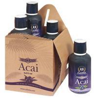 Organic Acai /Sekret długowieczności, ekologiczny 100% sok z jagód acai - 4 x 473 ml