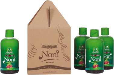 Organic Noni Pack (4 x 946 ml) /Organiczy sok z owocu noni na odporność
